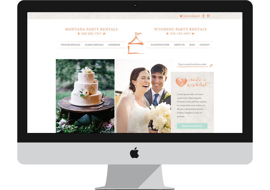 Wedding Vendor Web Design